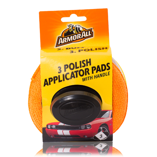 3 Polish Applicator Pads With Handle